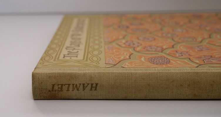 Hamlet by William Shakespeare with Illustrations by Edy Legrand (1939) photo of binding and spine.