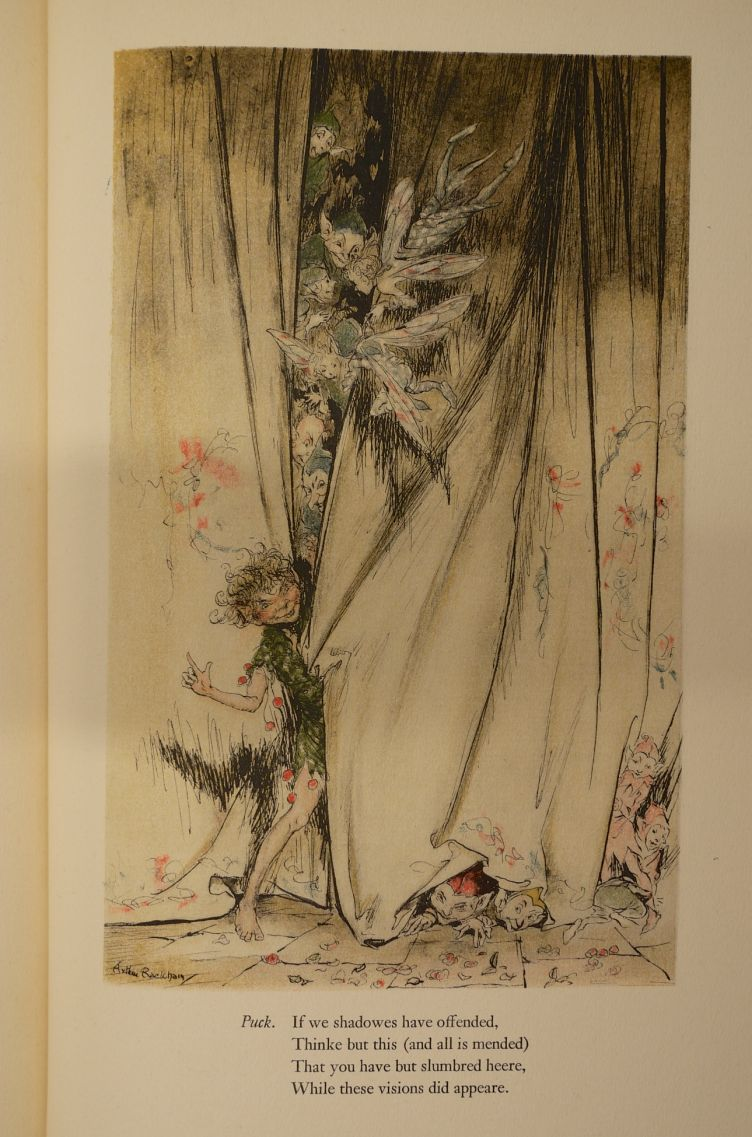 A Midsummer Night's Dream by William Shakespeare with Illustrations by Arthur Rackham (1939) illustration #6.