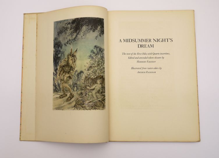 A Midsummer Night's Dream by William Shakespeare with Illustrations by Arthur Rackham (1939) frontispiece.