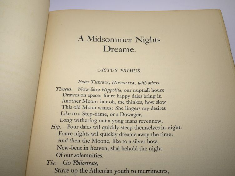 A Midsummer Night's Dream by William Shakespeare with Illustrations by Arthur Rackham (1939) sample text.