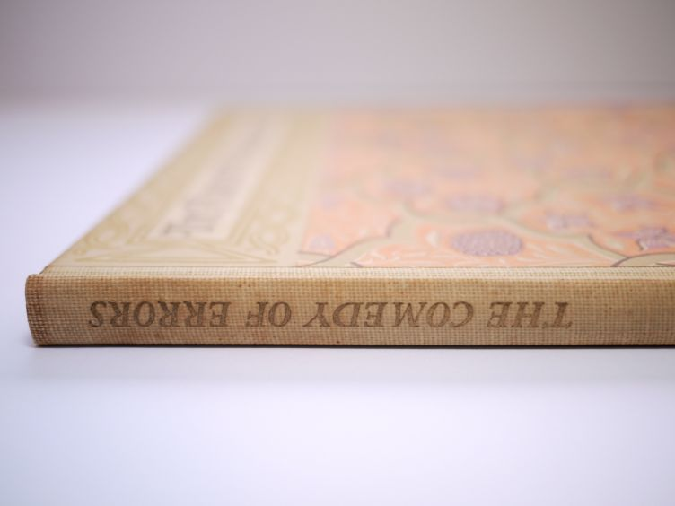 A Comedy of Errors by William Shakespeare with Illustrations by John Austen (1939) photo of spine.