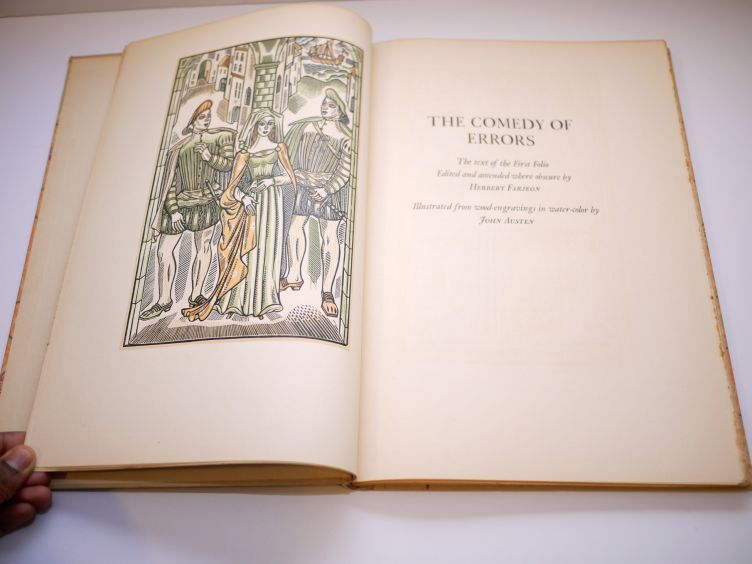 A Comedy of Errors by William Shakespeare with Illustrations by John Austen (1939) frontispiece.