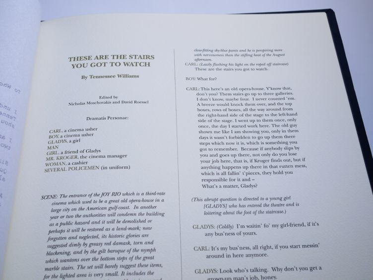 Tennessee with Illustrations by Clarice Smith (2004) first page of the play.