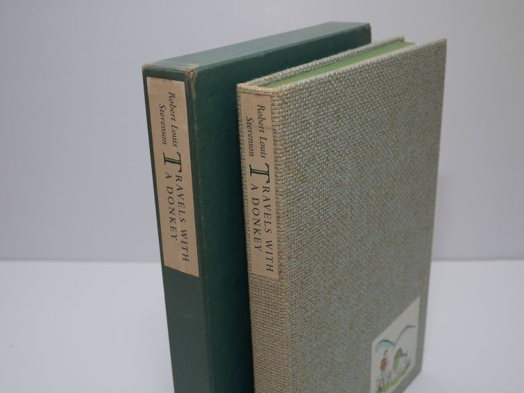 Travels With A Donkey in the Cévennes by Robert Louis Stevenson (1957) book and slipcase.