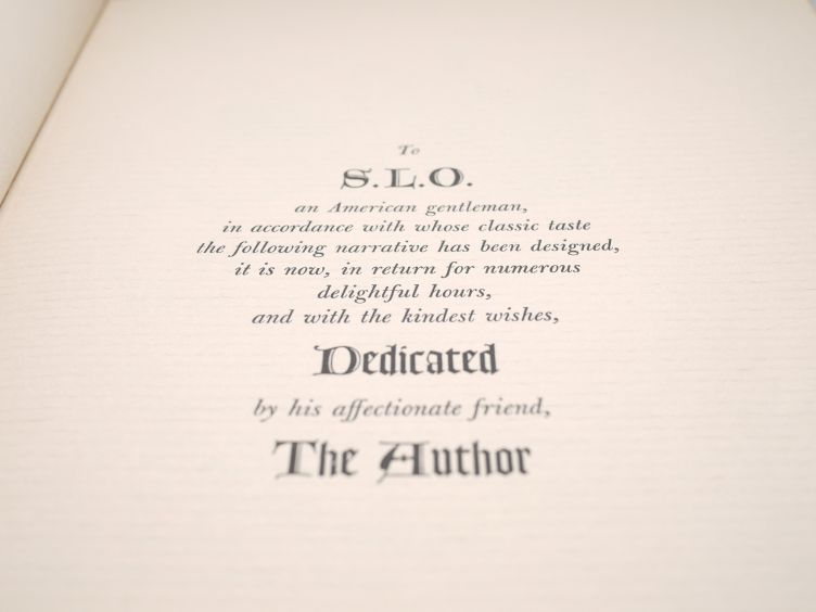 Treasure Island by Robert Louis Stevenson (1941) the dedication.