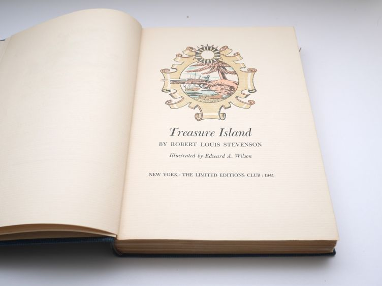 Treasure Island by Robert Louis Stevenson (1941) title page.