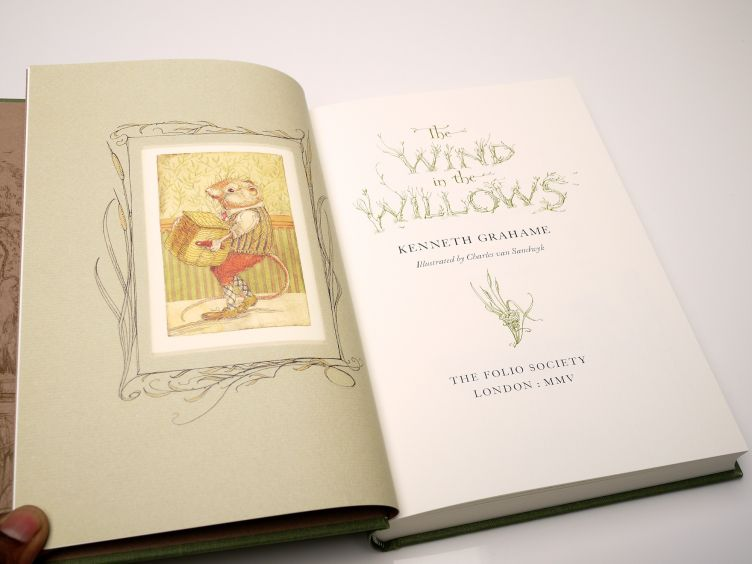The Wind in the Willows by Kenneth Grahame (2005) title page.