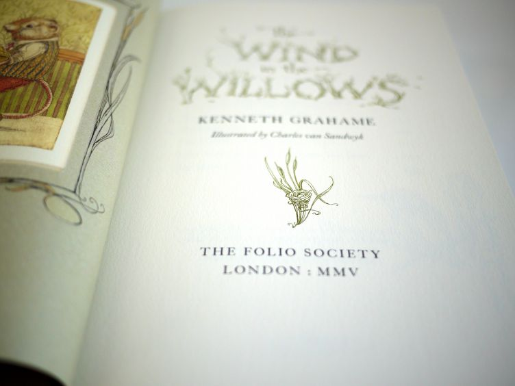 The Wind in the Willows by Kenneth Grahame (2005) title page closeup.