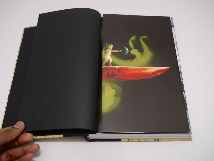 The Graveyard Book by Neil Gaiman with illustrations by Dave Mckean (2008) foldout illustration #1.