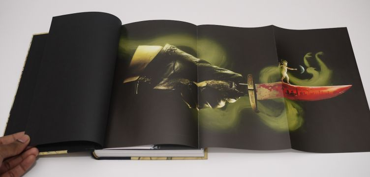 The Graveyard Book by Neil Gaiman with illustrations by Dave Mckean (2008) foldout illustration #2.