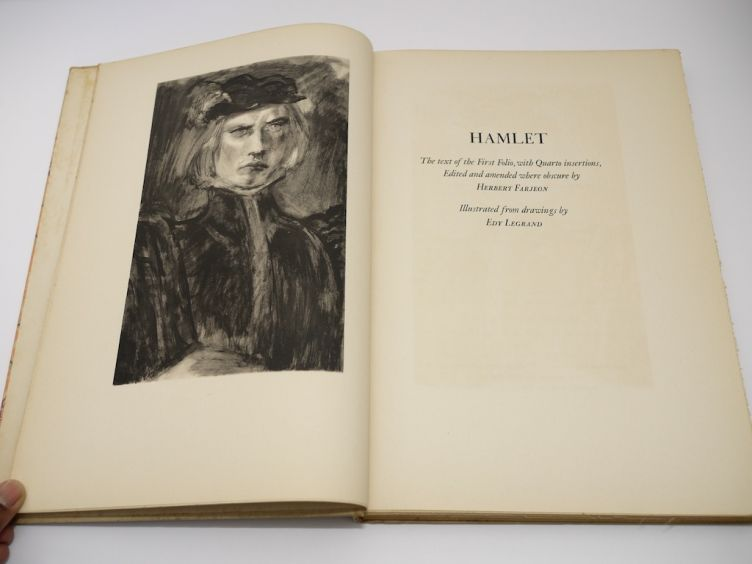 Hamlet by William Shakespeare with Illustrations by Edy Legrand (1939) frontispiece.