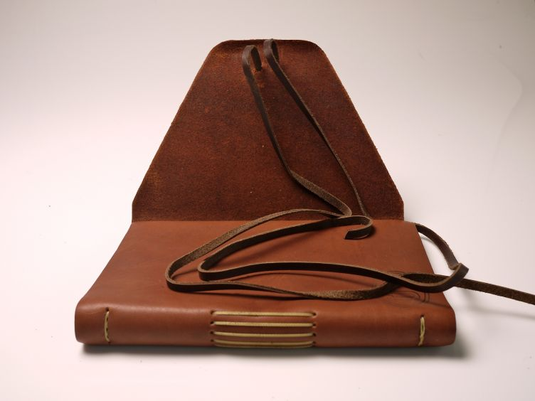 Three Miles from Providence by David Bruce Smith (2007) photo #1: leather cover and straps.