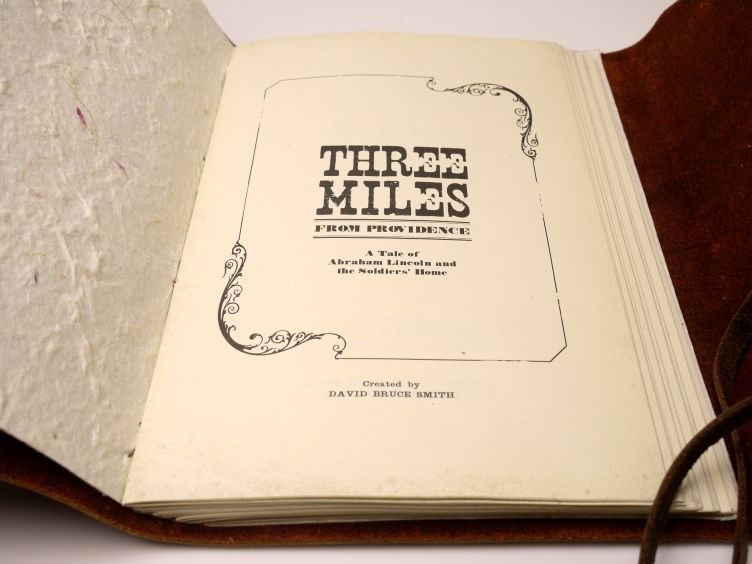 Three Miles from Providence by David Bruce Smith (2007) photo #4: title page close-up.