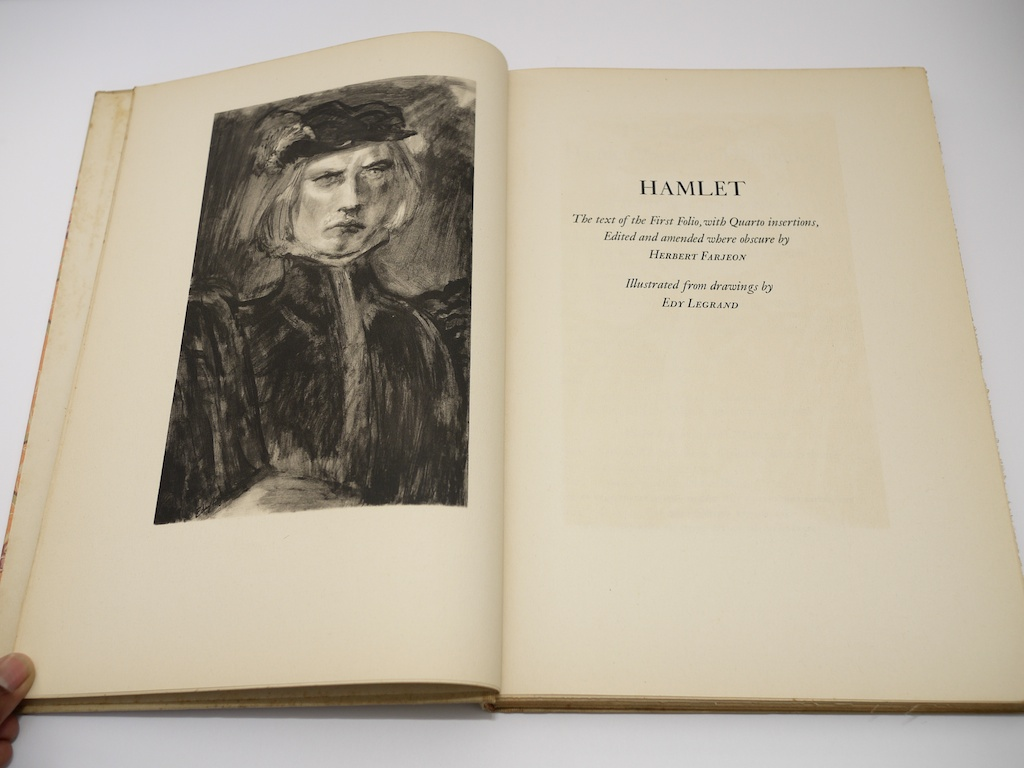 limited editions club hamlet shakespeare