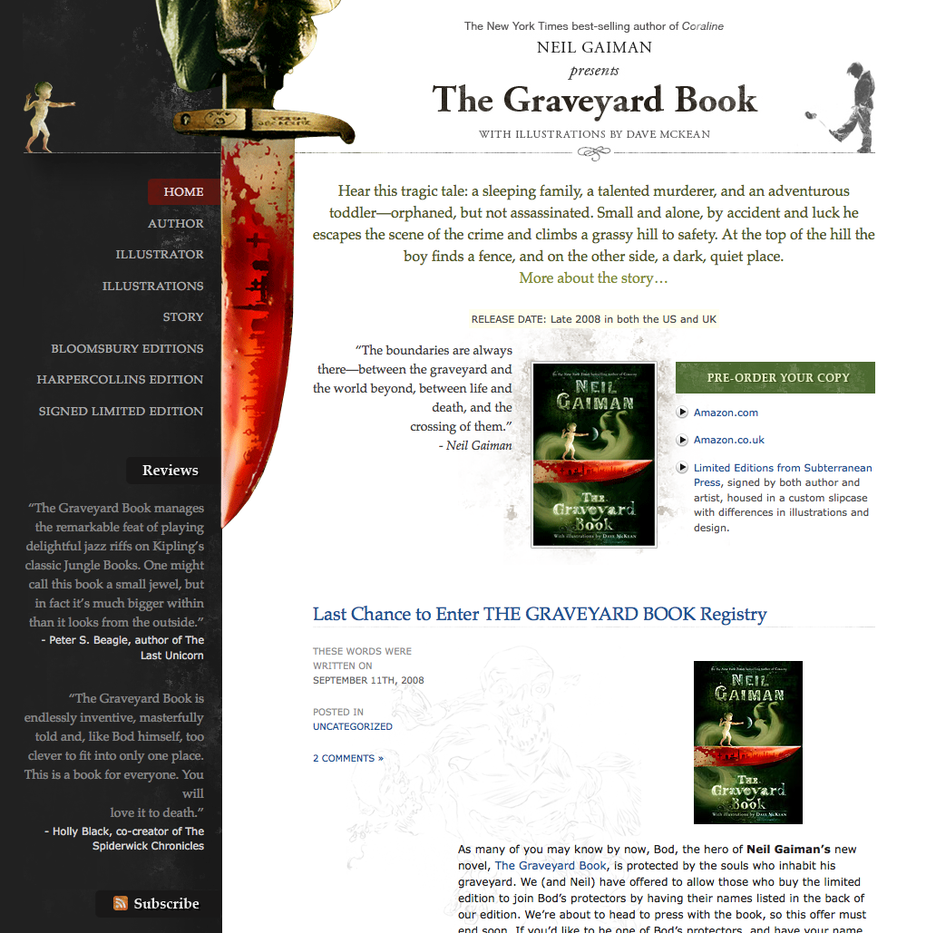 The Graveyard Book website