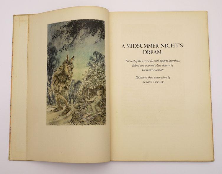 Limited Editions Club Midsummer Night's Dream Arthur Rackham