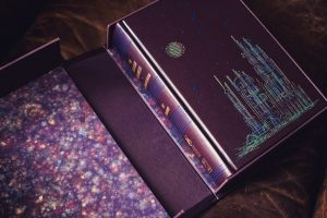 Traycase with marbled paper from PS Publishing and Subterranean Press Martian Chronicles signed limited edition