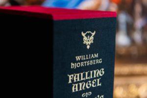 William Hjortsberg detail on slipcase of Falling Angel and Angel's Inferno