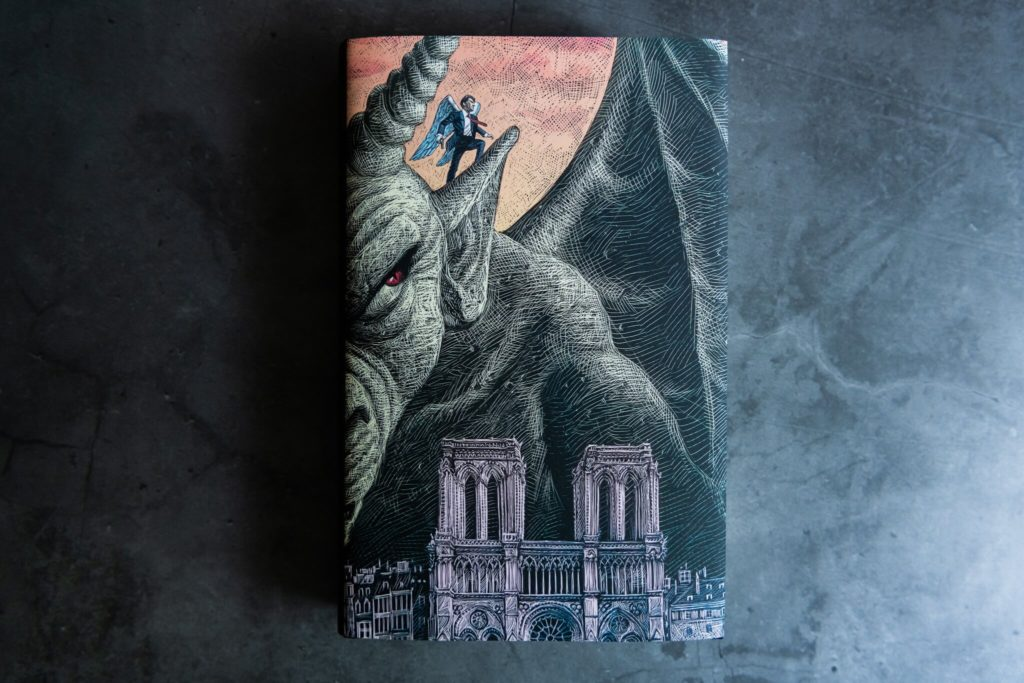 Falling Angel dust jacket from Centipede press