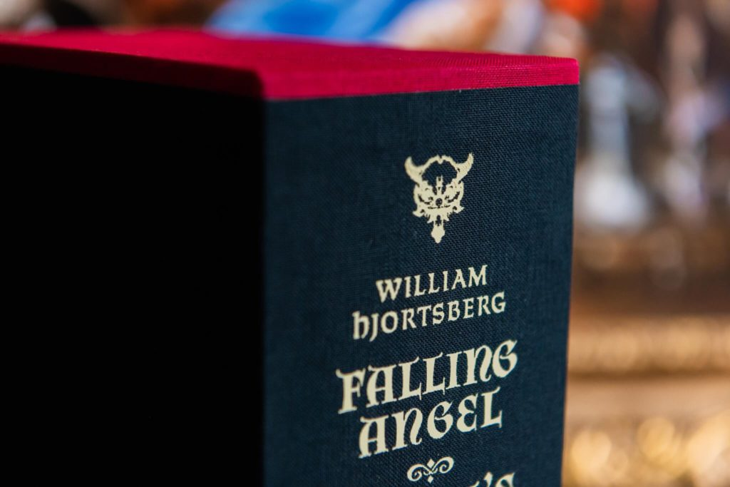 William Hjortsberg detail on slipcase of Falling Angel and Angel's Inferno