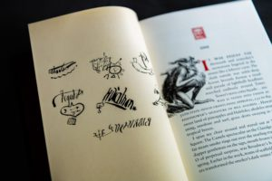 Signatures of the demons in Falling Angel from Centipede press
