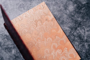 Another pictures of the marbled endpapers of the Suntup Press Red Dragon lettered edition