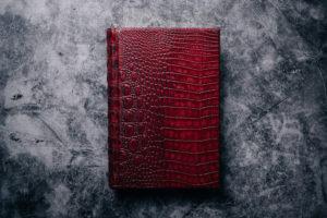 Suntup Press Red Dragon lettered edition hornback (alligator) binding
