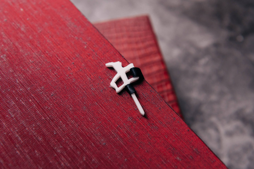 Suntup Press Red Dragon lettered edition bone clasp
