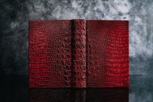 Suntup Press Red Dragon lettered edition leather binding