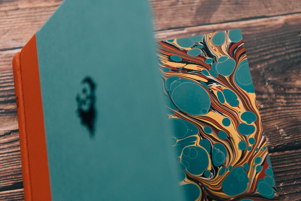 Subterranean Press' Full Throttle by Joe Hill lettered edition marbled endpapers