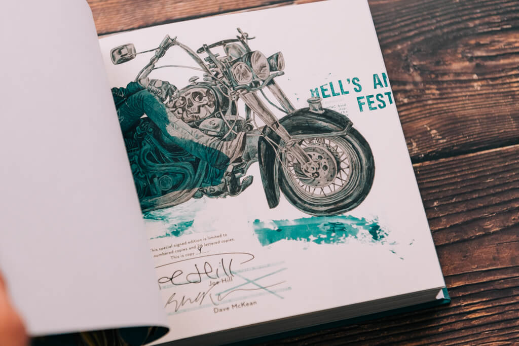Subterranean Press' Full Throttle by Joe Hill lettered edition signature page